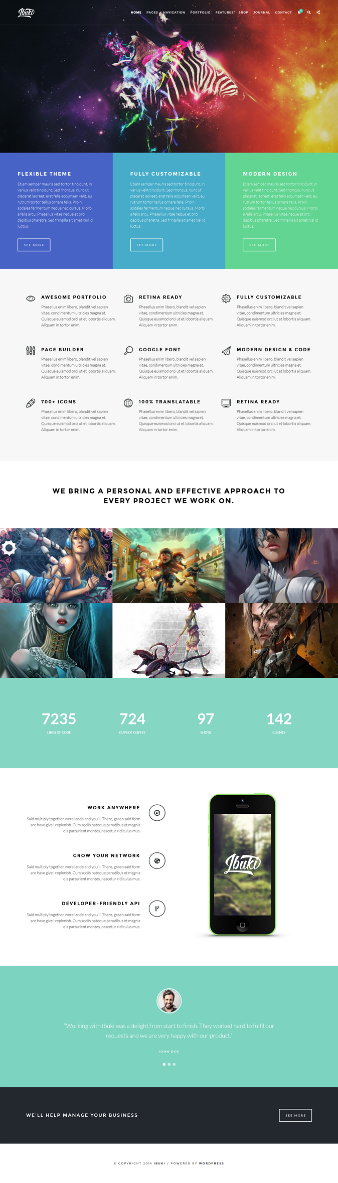 #webdesign #WP #Ibuki #Creative and Shop WordPress Theme  ->
