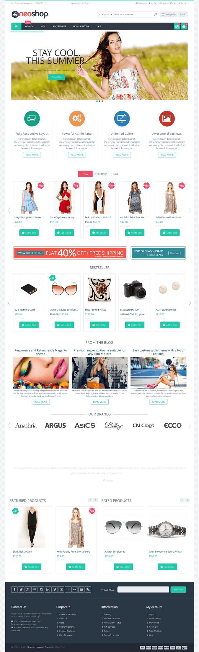#website #design #eCommerce #Neoshop Responsive & Retina Ready #Magento Theme ->>