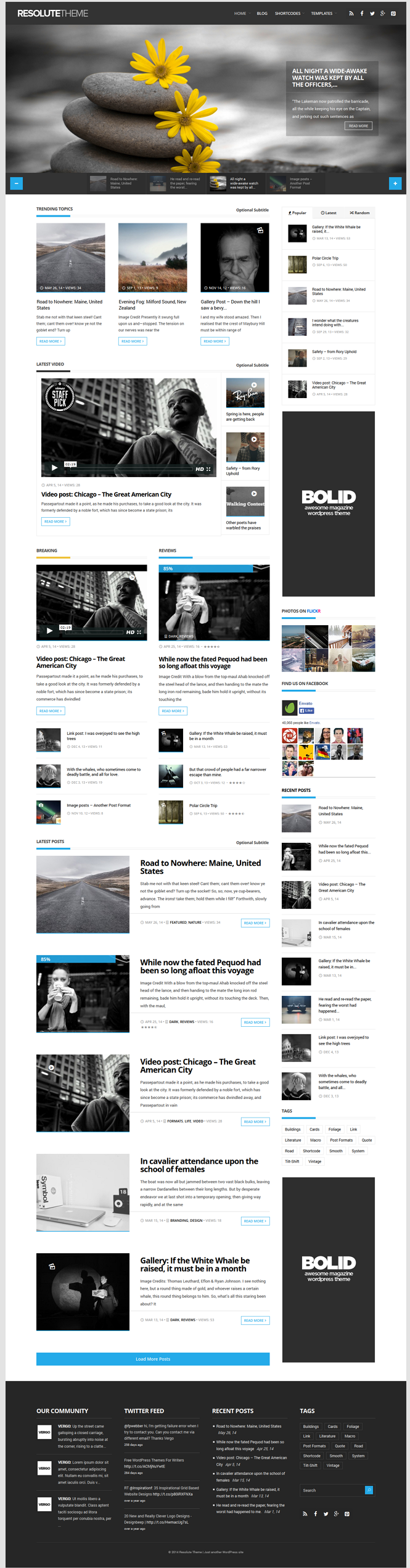 Resolute is a elegant magazine theme with Drag & Drop page builder and fully responsive desi ...