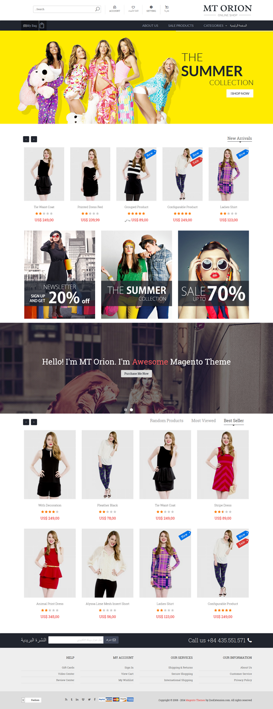 MT Orion is fully magento theme which best suite for any store such as clothes, computer, fashio ...