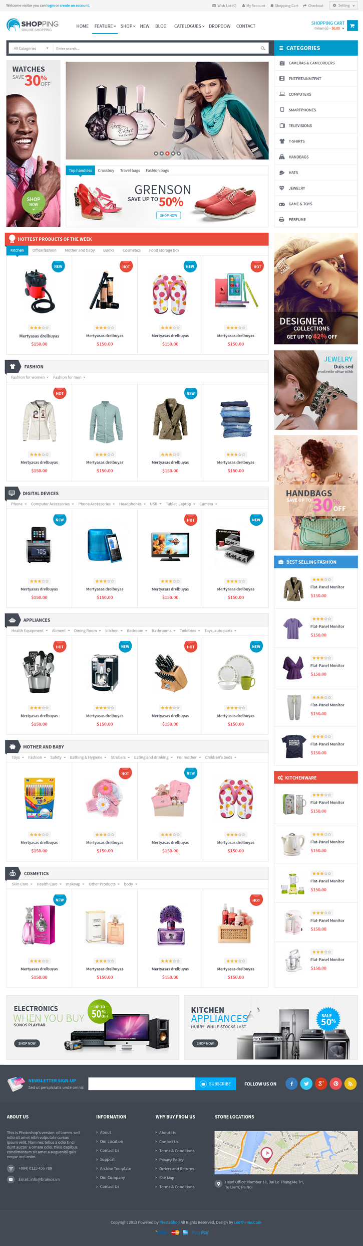 Leo Shopping is a clean, creative and responsive Prestashop theme. Whether you're looking for a  ...