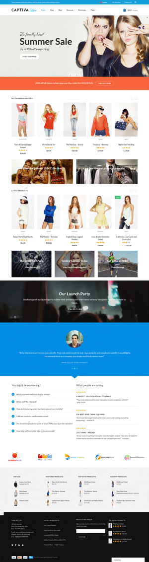 Captiva is a premium Woocommerce Responsive WordPress Template.  This theme is suitable for any  ...