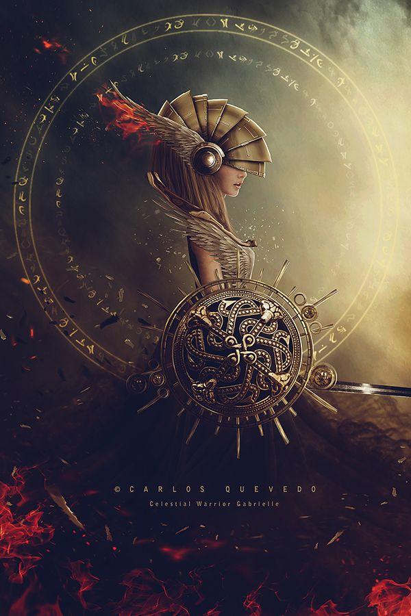 Celestial Warrior Gabrielle by Carlos Quevedo