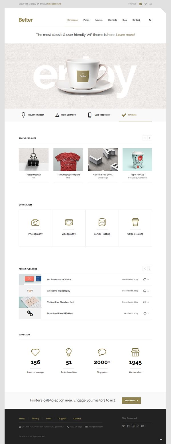 Better – Minimalistic Business WordPress Theme by CreAtive Web Themes