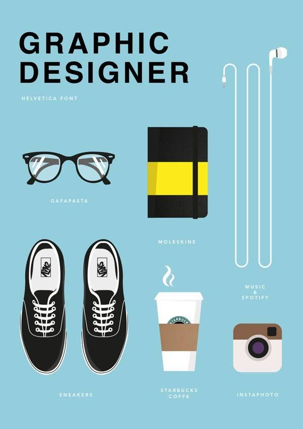 Graphic Designer – It's true… I do work better with coffee, music… and my glasses on…
