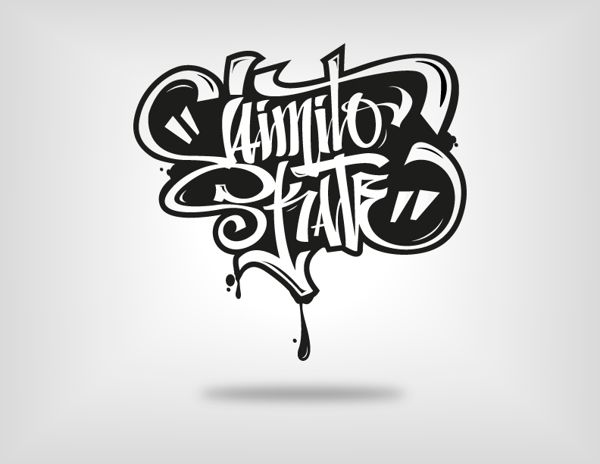 Logos hand lettering 2013 by luis garcia on inspirationde Calligraphy logo