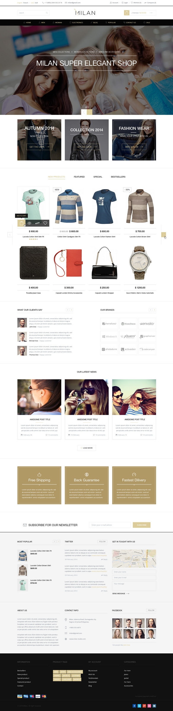 Milan is responsive eCommerce theme with clean and modern design. Milan was designed for opencar ...