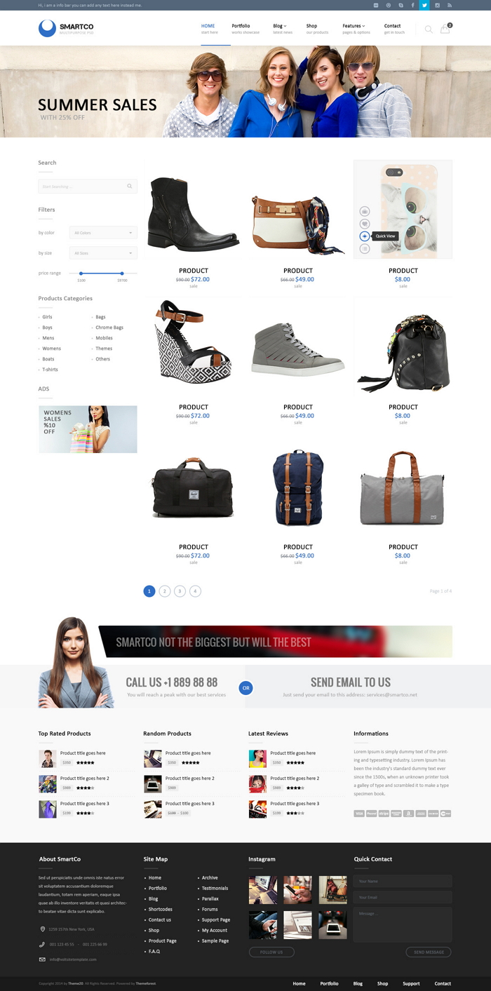 SmartCo is business multipurpose PSD template with 24 fully layered PSD file. Ideal for business ...