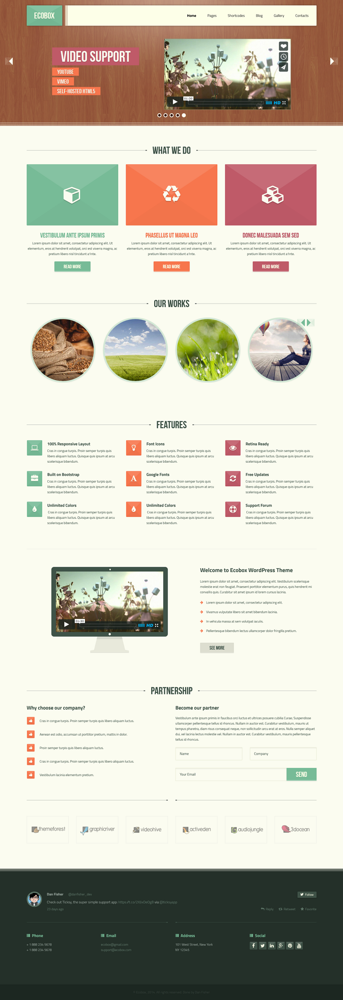 Ecobox is a unique, clean and responsive template. It is designed with fresh and natural color s ...
