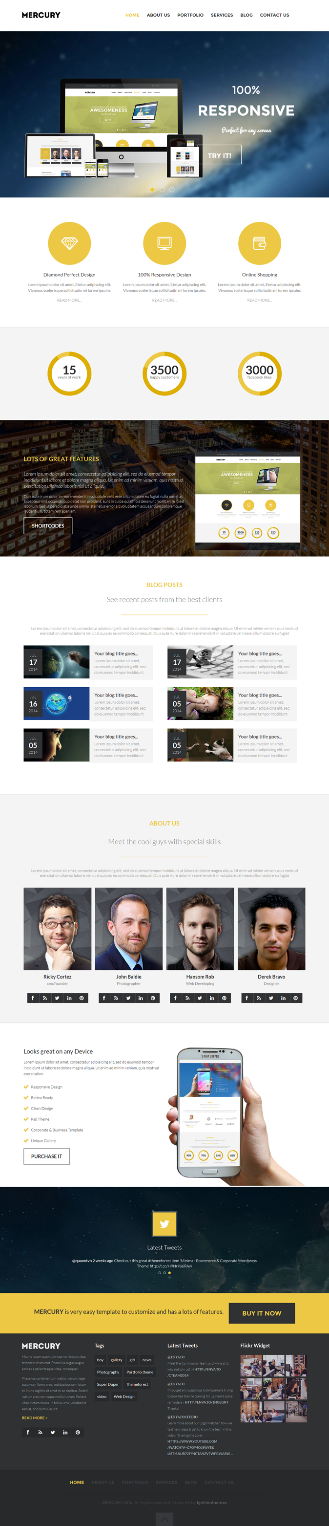 MERCURY is a Multipurpose Premium WordPress template suitable for any type of business. 32 is nu ...