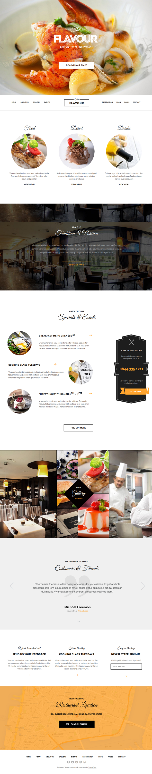 This theme is perfect for Restaurants, Grills, Cafe's, Bistro's, Night Clubs and everyone in the ...