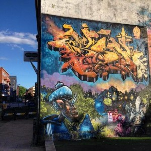 Cool street art in Fredrikstad, Norway.