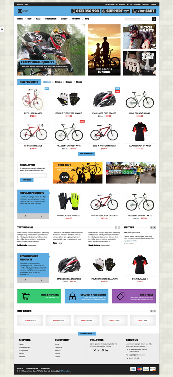 SNS Xsport is a fresh and clean design eCommerce Magento Theme. If you want to have a very uniqu ...