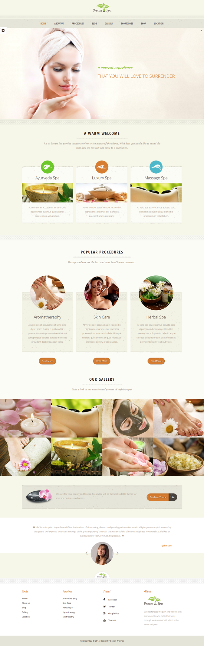 Dream Spa is a versatile health care business theme suitable for spa, therapy, massage, yoga, we ...