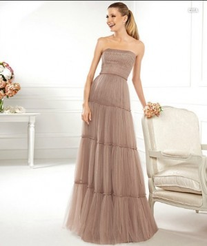 Strapless Floor Length Tulle Sheath Column Prom Dress  Weight	2.0000 Back Style	Zipper Color	N/A ...