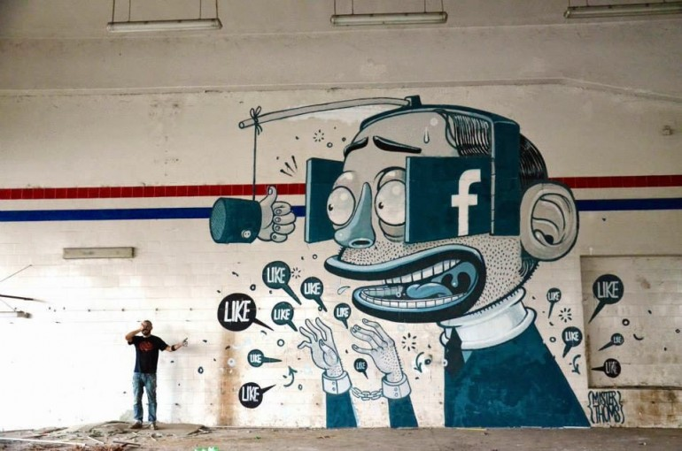 The Facebook Like Obsession Told Through Murals