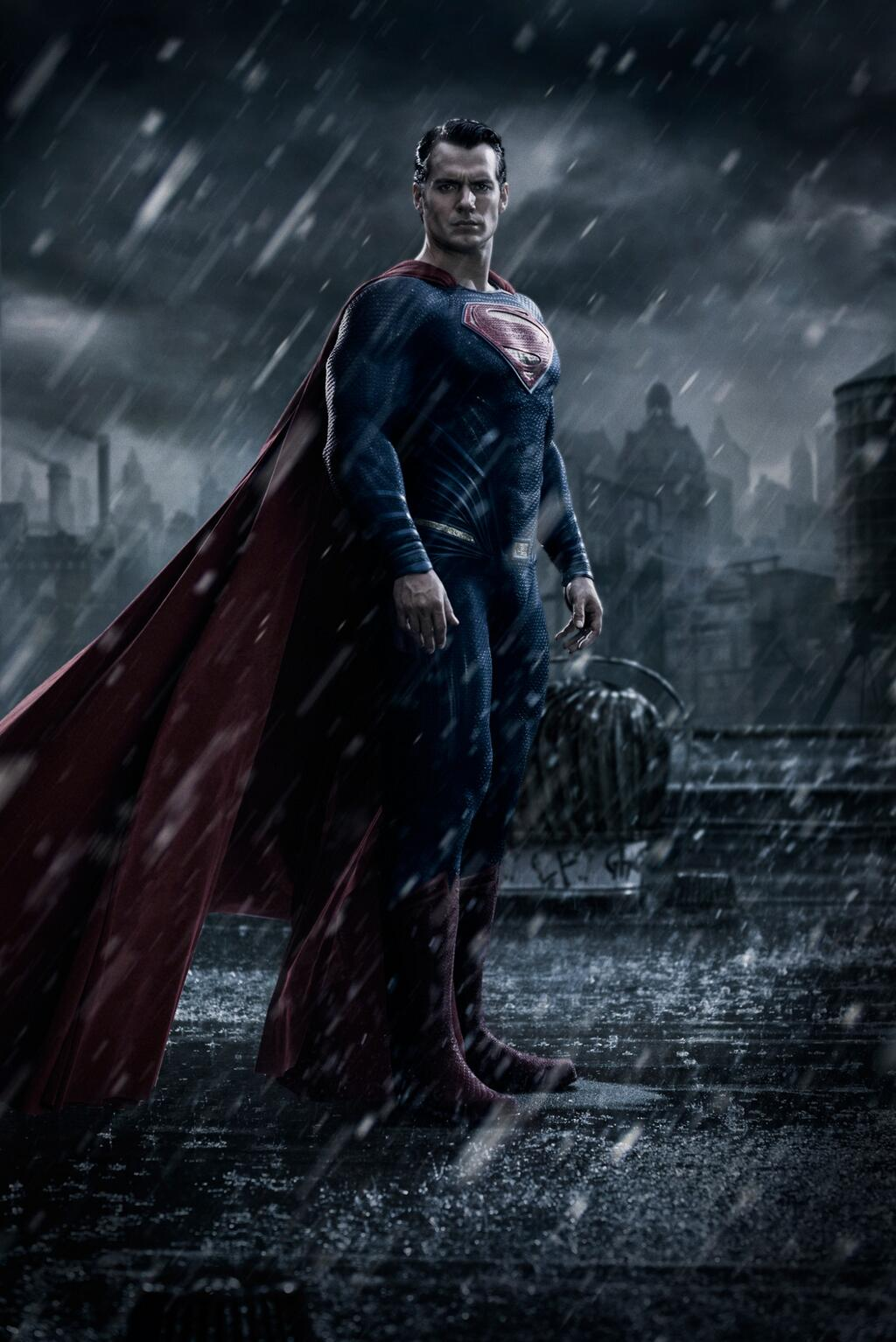 This is Henry Cavill as the Man of Steel in 'Batman v. Superman'