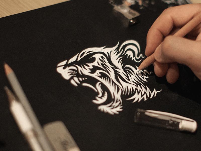 Tiger | Sketch | Drawing