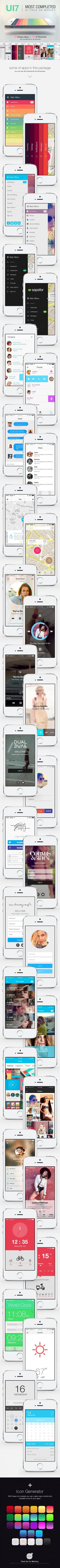 UI7 – Flat Bootstrap Mobile UI / Phone App