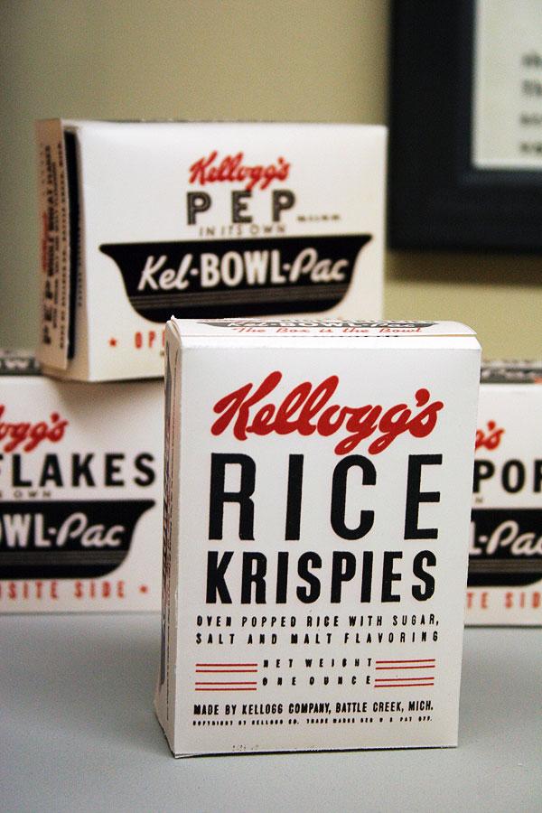 Vintage Kellogg's Rice Krispies cereal box