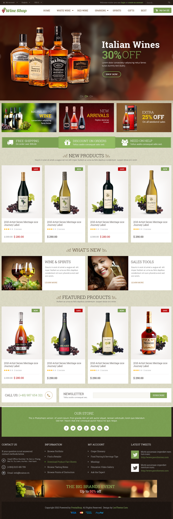 You can use the responsive Prestahsop theme for variety of purposes from a fresh market shop to  ...
