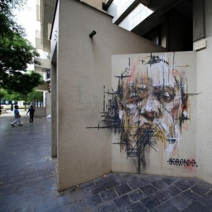 Work by #Borondo – Vitry-sur-Seine, France