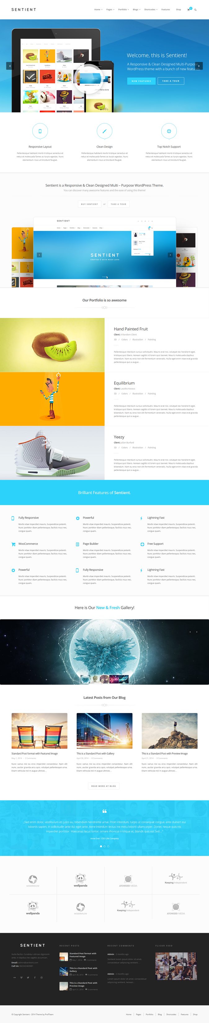 Sentient is a Modern & Clean Designed Multipurpose WordPress Theme that fits for every purpose.