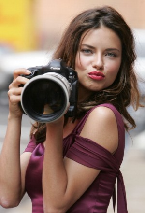 Adriana Lima during Adriana Lima on Location for Maybelline