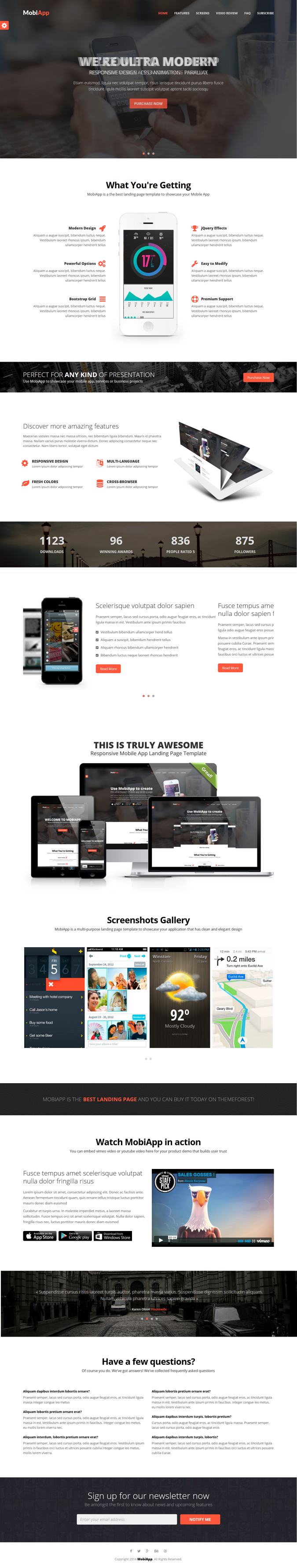 MobiApp is a cool and creative responsive mobile app landing page. You can use it as showcase of ...