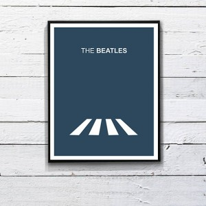 Beatles Poster Minimalist Print. Printable Art  by DesignSailors