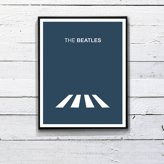 Beatles Poster Minimalist Print. Printable Art  by DesignSailors