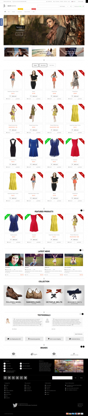 """Shop Crown"" is a premium responsive Prestashop theme with clean, modern and elegant design.   I ..."
