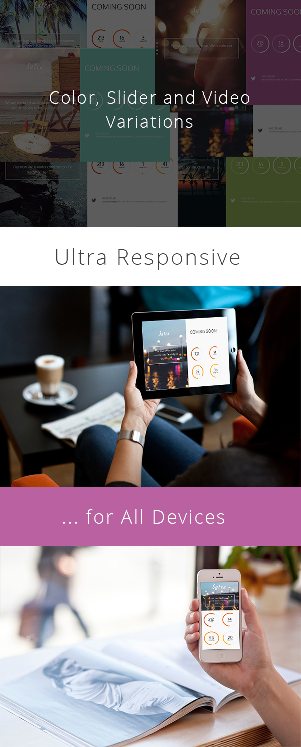 Satea is a responsive, modern, stylish and HTML5 coming soon template based on the Bootstrap 3 f ...