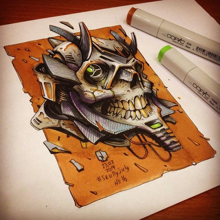 Skull Illustration by Andrey Pridybaylo