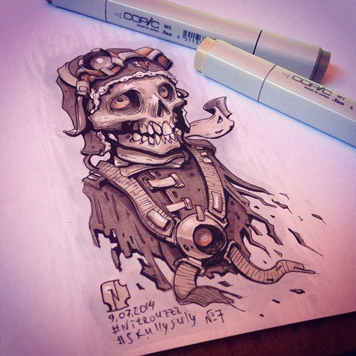 Skull Illustration Art