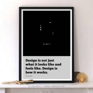 Design is not just what it looks like and feels like and feels like.Design is how it works.An I ...
