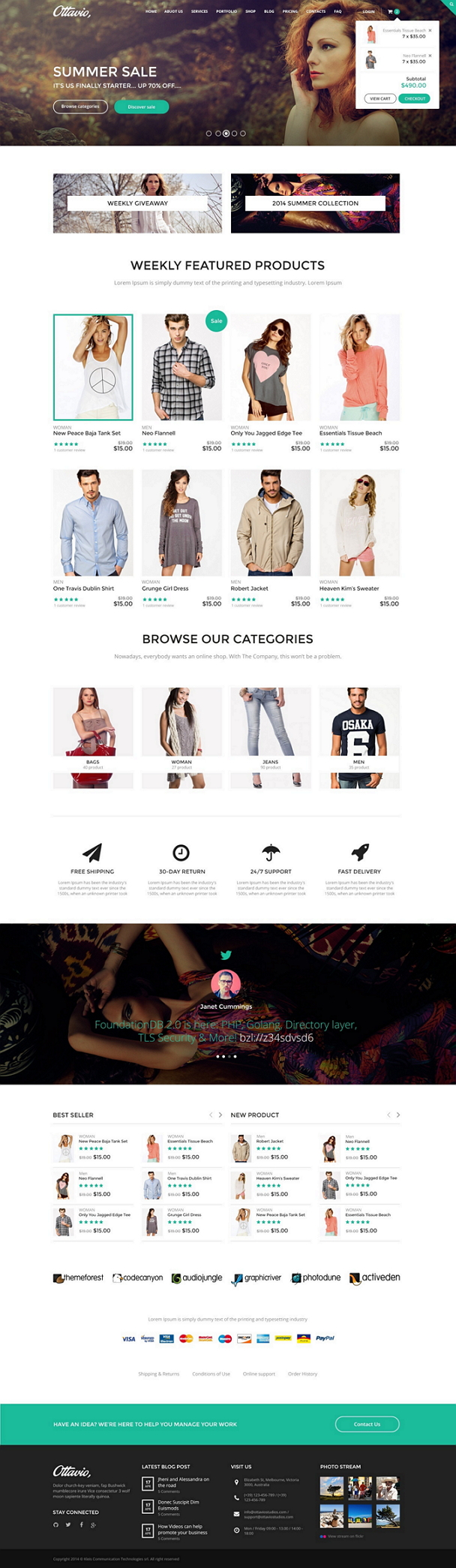 Ottavio is a creative multipurpose PSD template with 30 fully layered PSD file fully customizabl ...