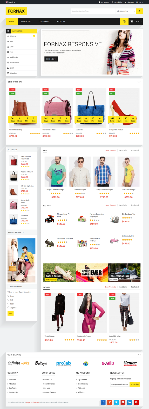 MT Fornax is fully magento theme which best suite for any store such as clothes, computer, fashi ...