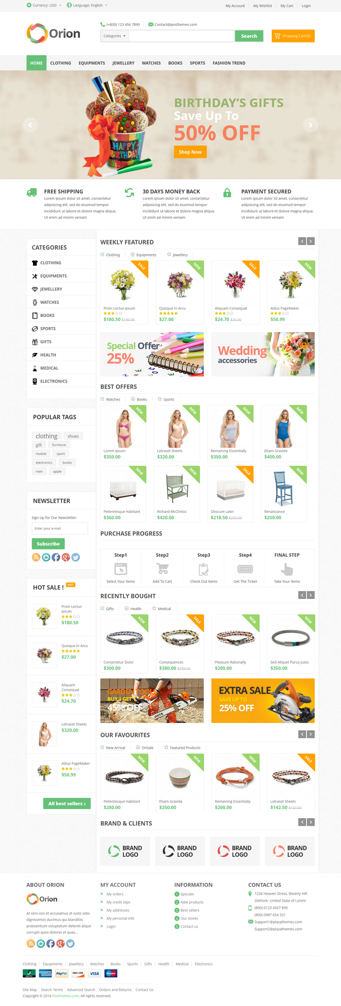 Orion is a mega Prestashop Theme for your eCommerce store comes from Posthemes. It's a great cho ...
