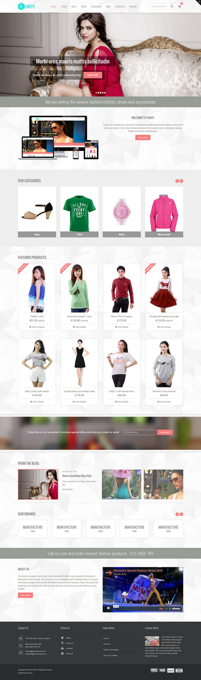 Funity is an elegant and responsive Shopify theme which dynamically adjusts for all screen sizes ...
