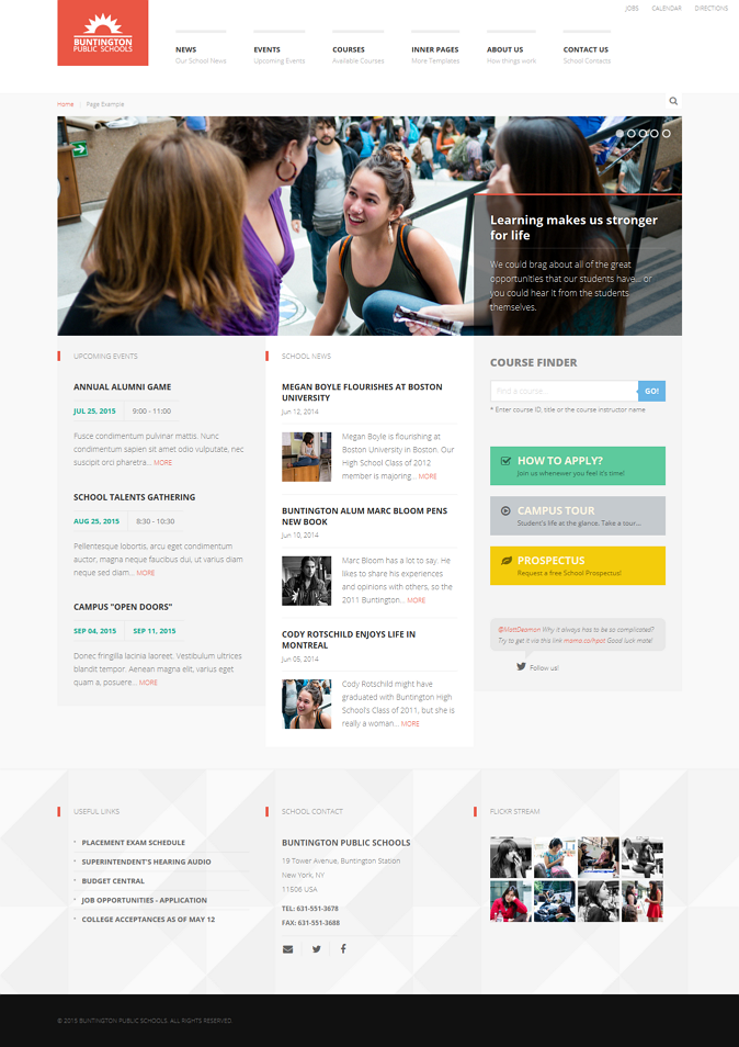 Buntington is an School / Education / Academic HTML template. Clean, crisp and simple design tha ...