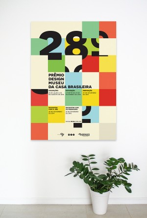 Shortlisted poster for the 28º Museu da Casa Brasileira design award. Co-designed with Joelson B ...