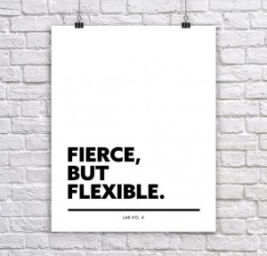 Fierce but FlexibleA Corporate Short Quote by Lab No. 4