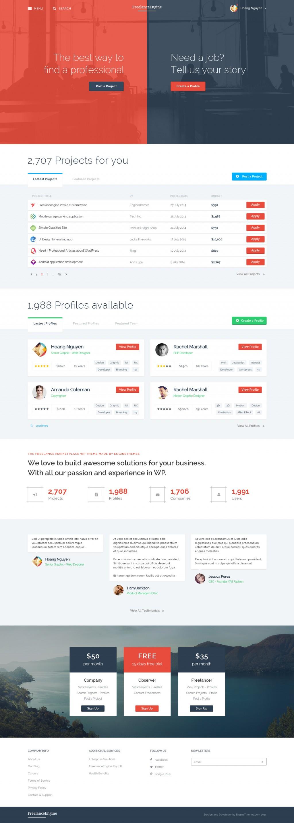 FreelanceEngine – Freelance Marketplace Template