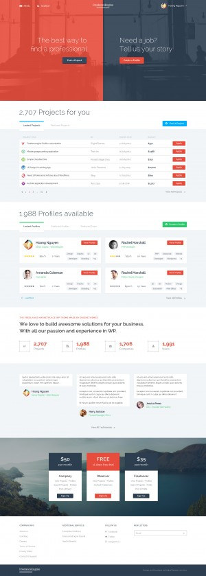 FreelanceEngine – Freelance Marketplace Template
