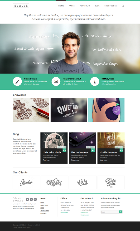 Evolve is an ultra responsive & highly customizable WordPress Theme for creative folks and c ...