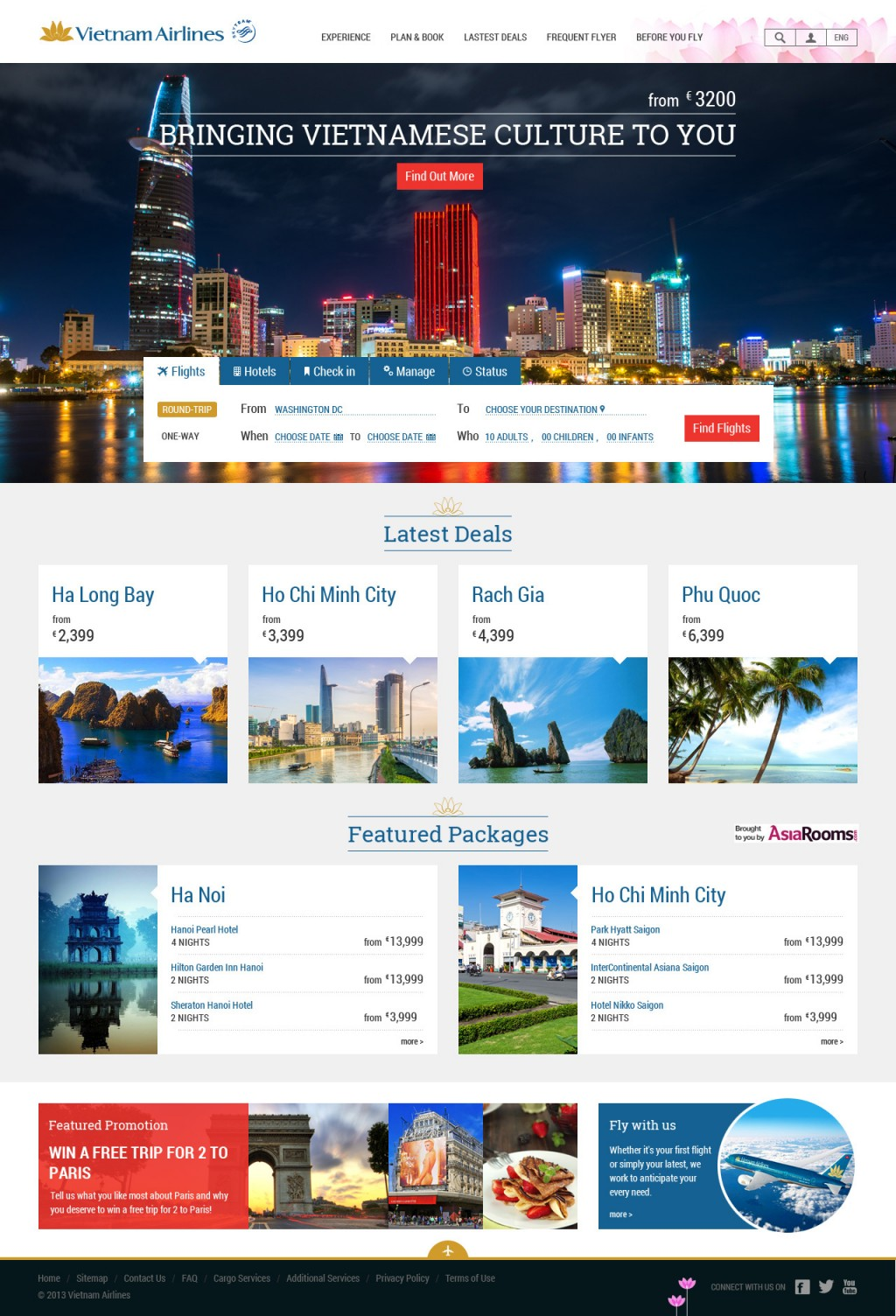 Vietnam Airlines Website Re-design