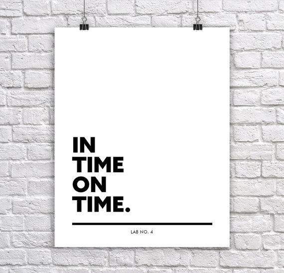 In Time On Time Inspirational & Motivational Corporate Short Poster by Lab No. 4