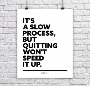 It's a slow process, but quitting won't speed it up. A motivating Corporate Short Qu ...