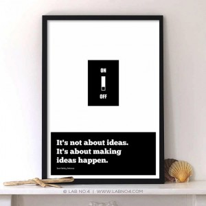 It's not about ideas. It's about making ideas happen.An inspiring startup quote post ...